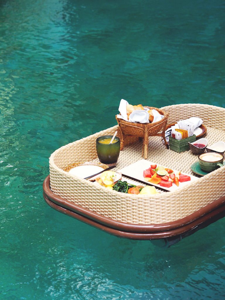 Floating Breakfast at Anema Villa Seminyak