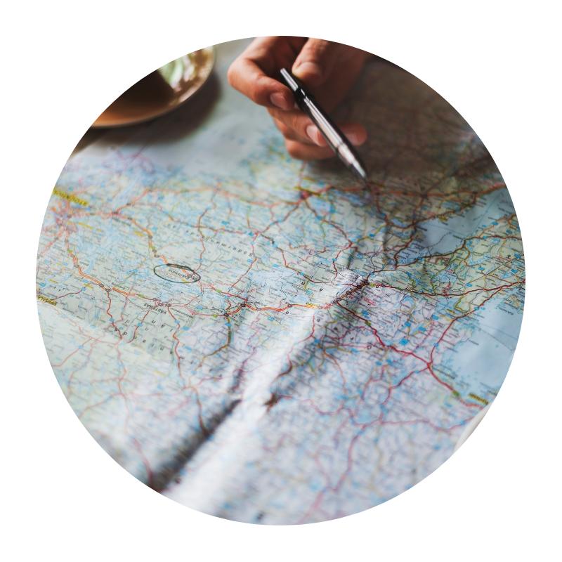 - O itinerário pode e deve incluir outros pontos de seu interesse, estudados com lógica geográfica considerando o ponto de visitação das família como prioritário.