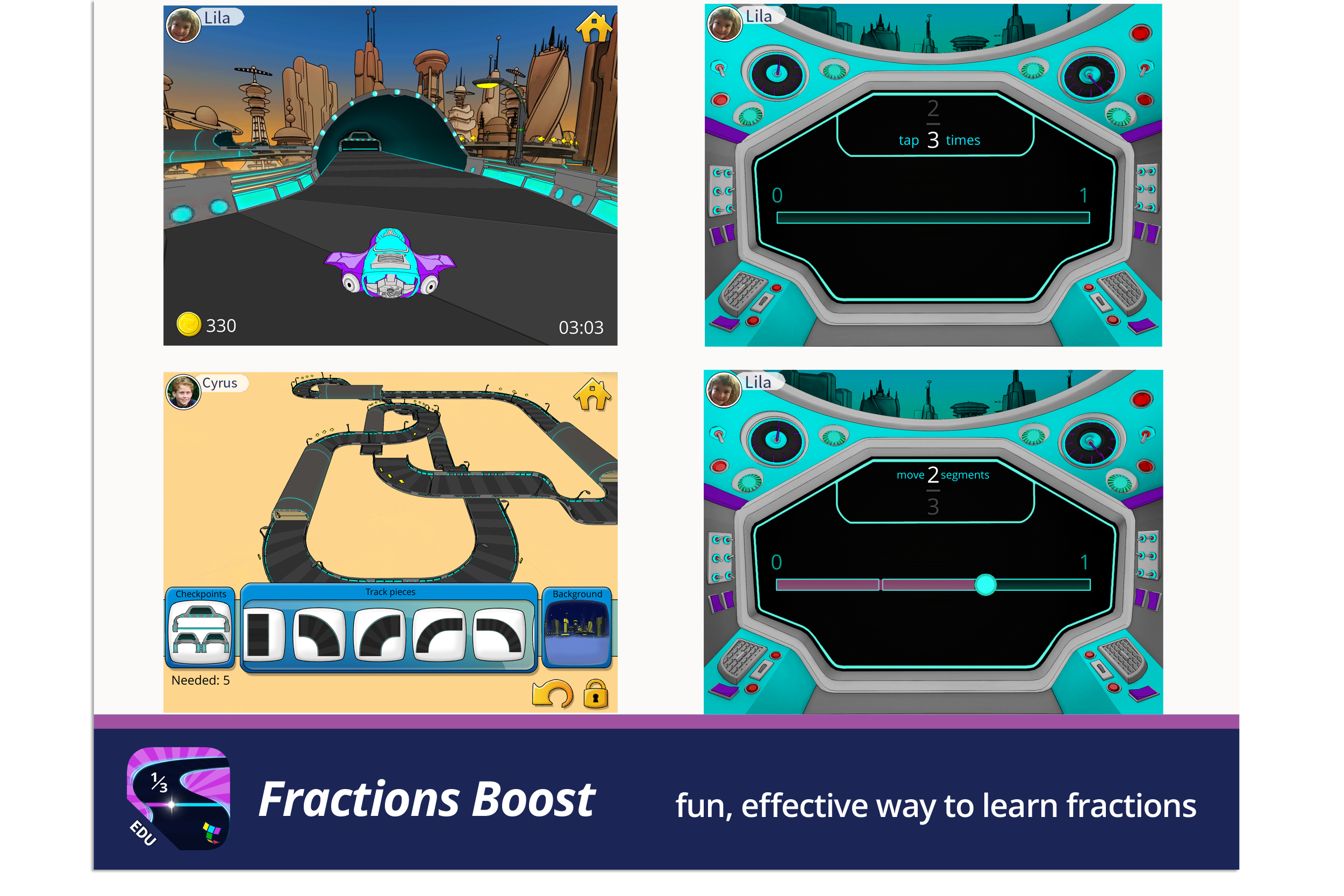 Fractions Boost, a fun, effective way to learn fractions