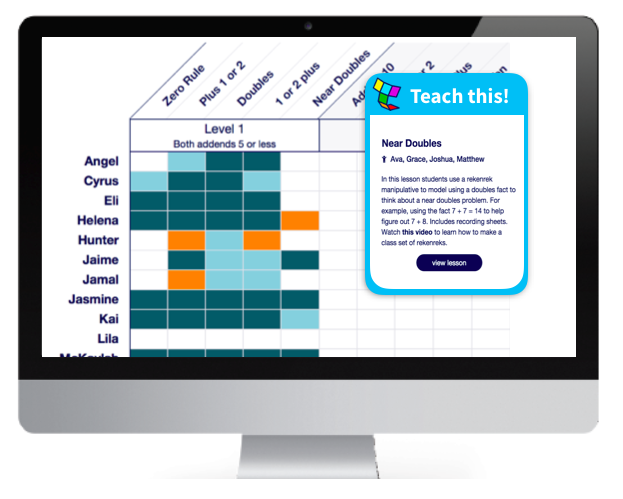 Image of the Teachley dashboard