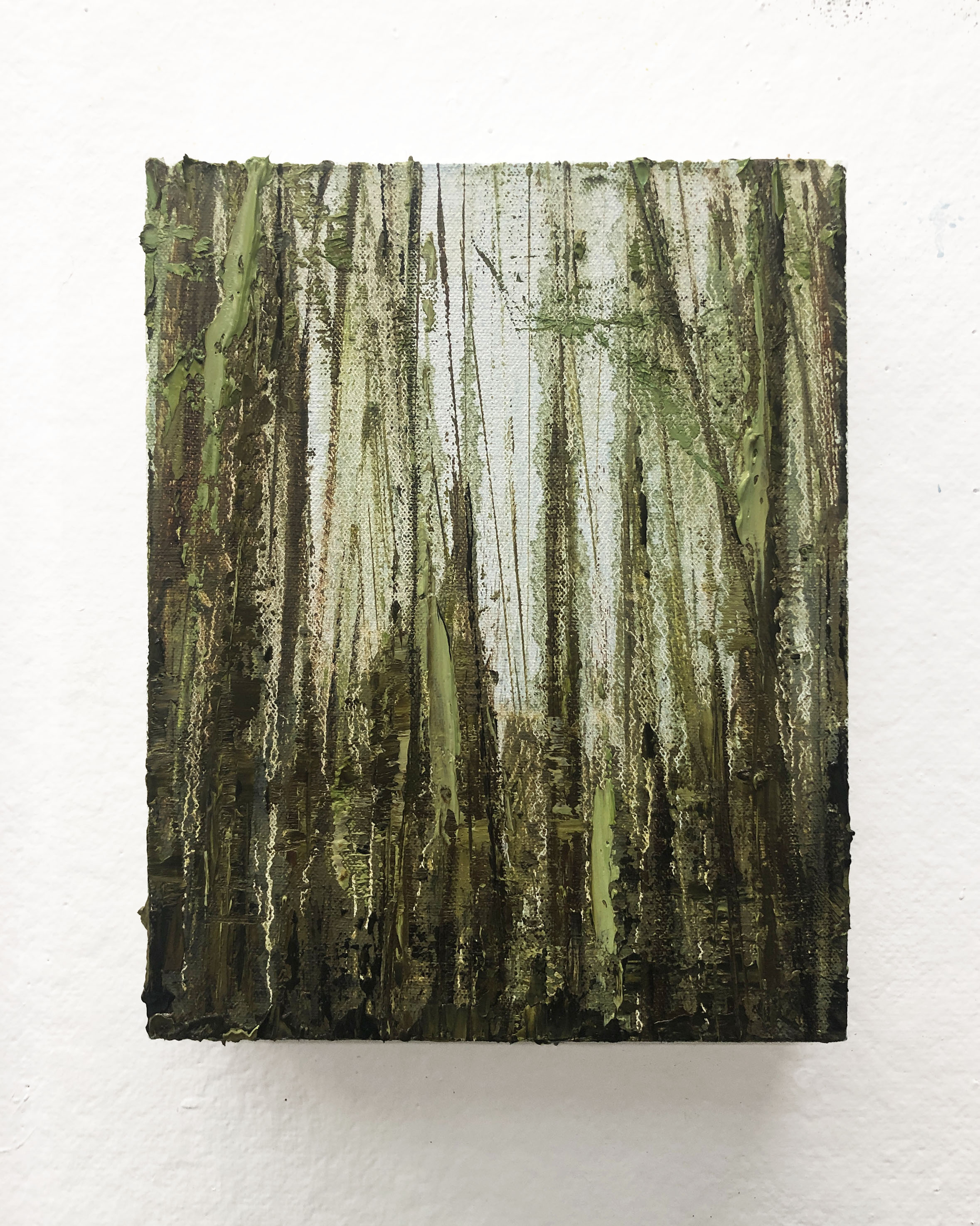 "Found   7.5 x 9.5"" oil on canvas"