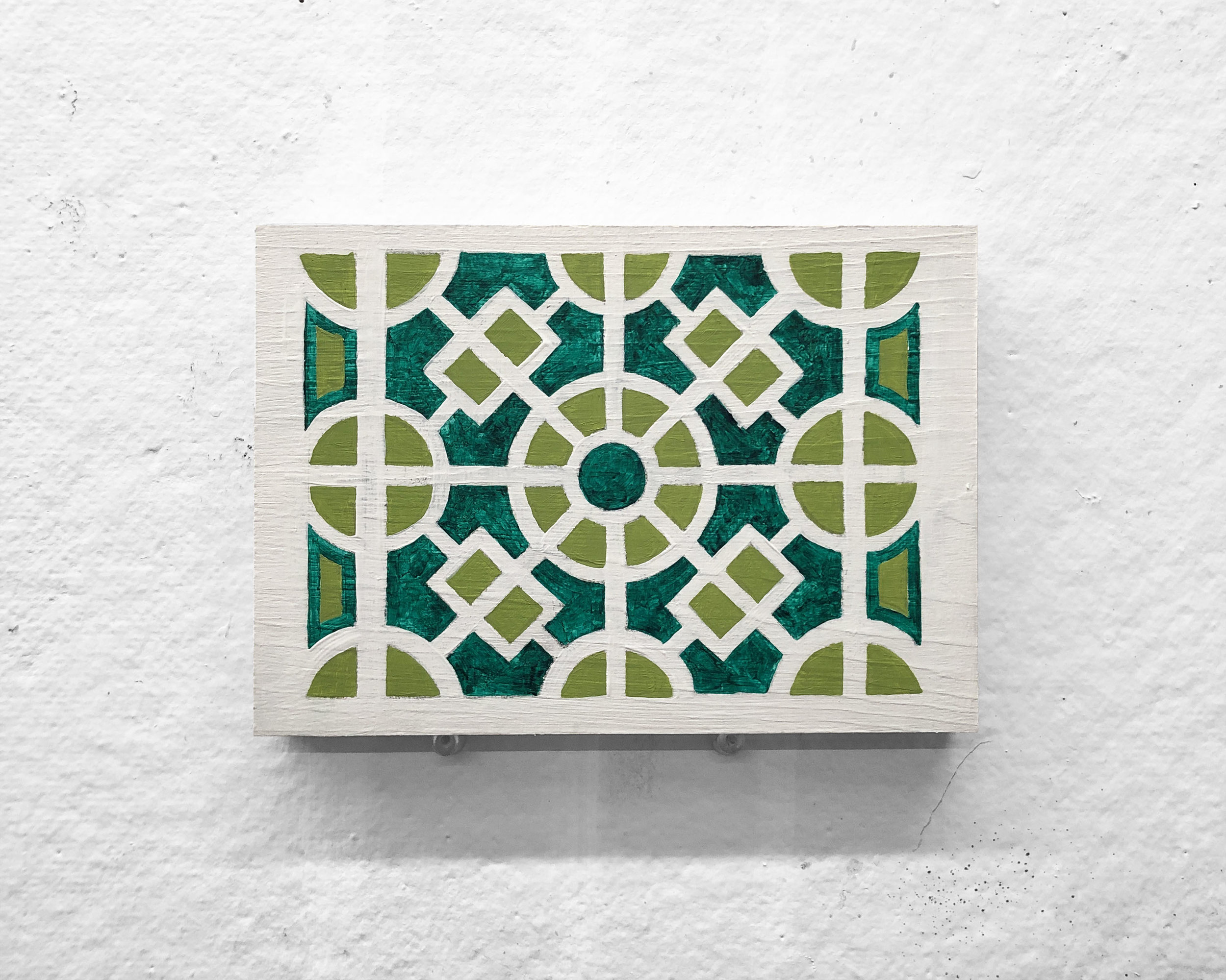 "Garden No. 4   5 x 7"" acrylic and oil on panel"