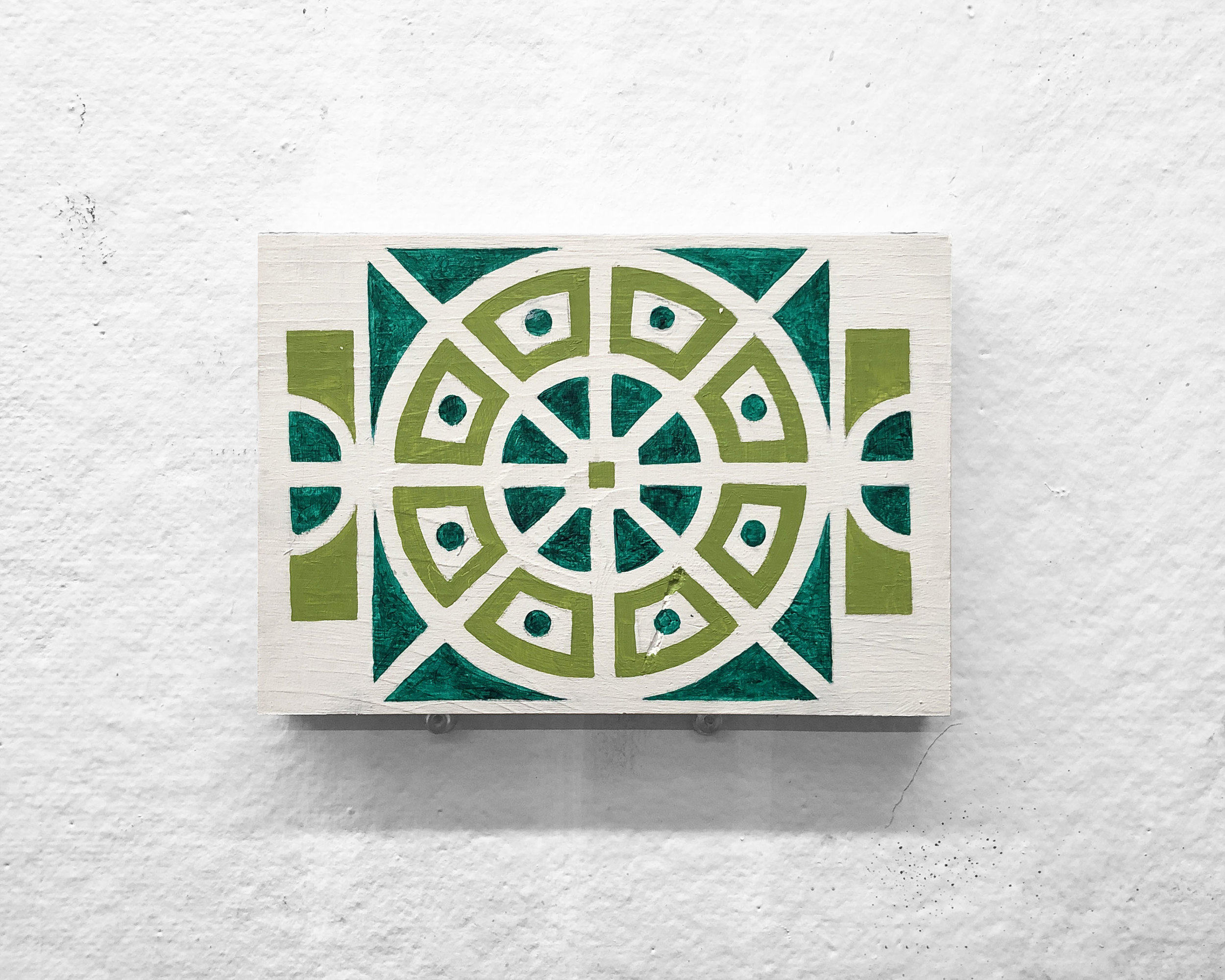 "Garden No. 5   5 x 7"" acrylic and oil on panel"