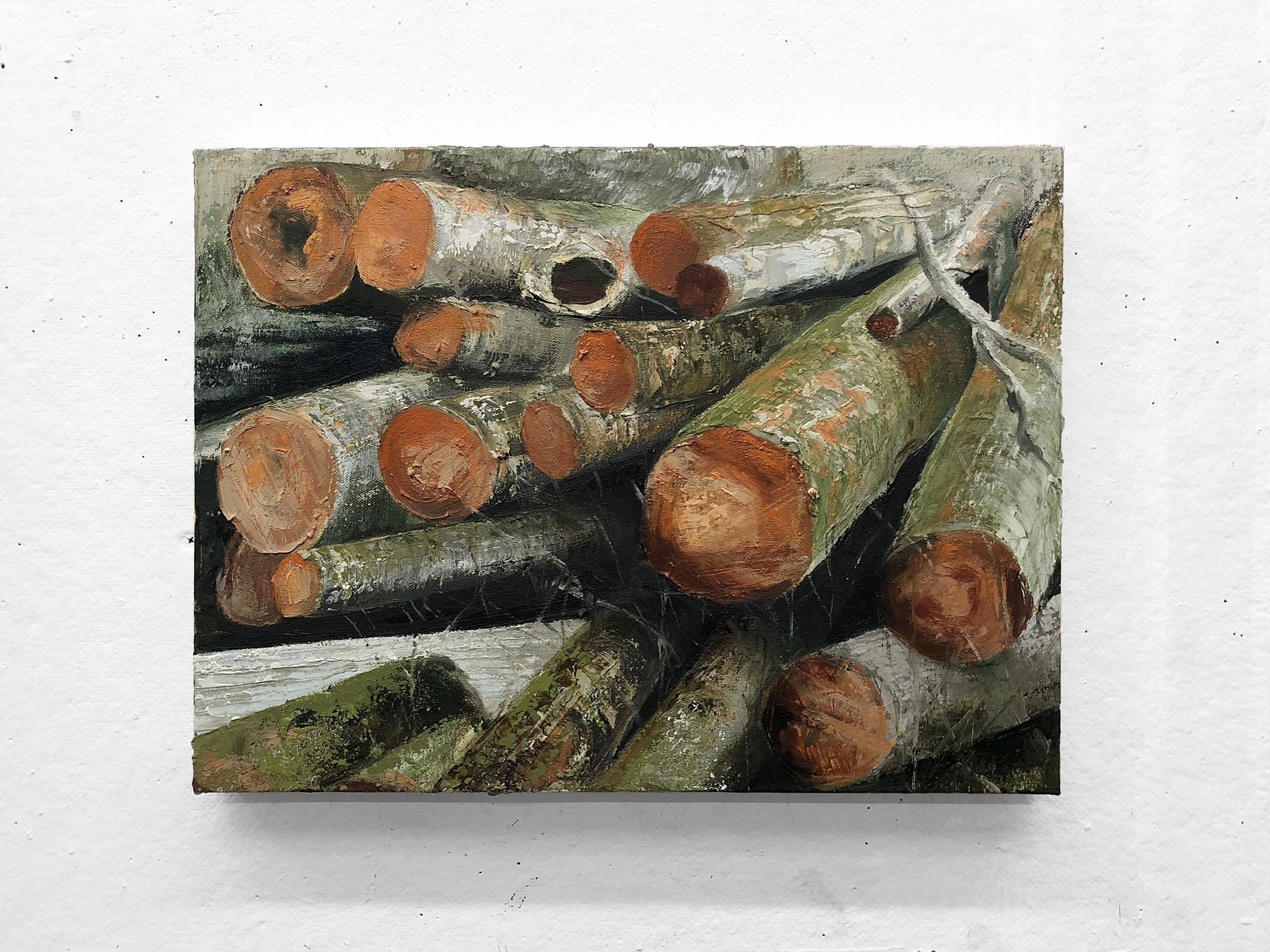"Graveyard   12 x 16"" oil on canvas"