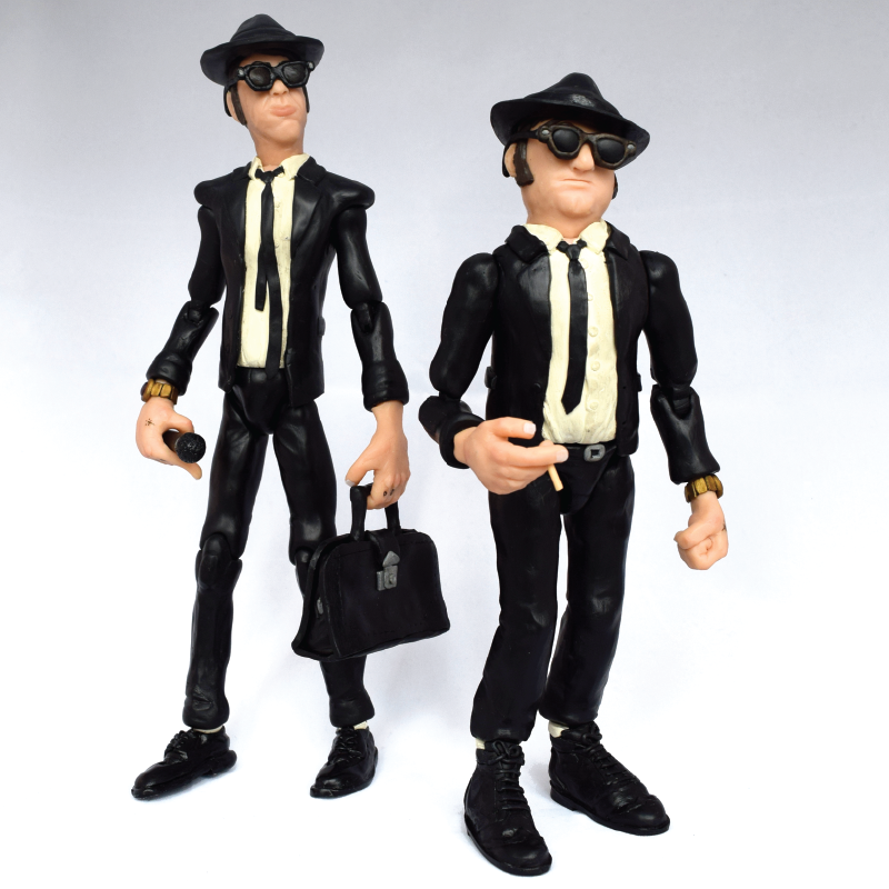 Blues Brothers articulated sculpture