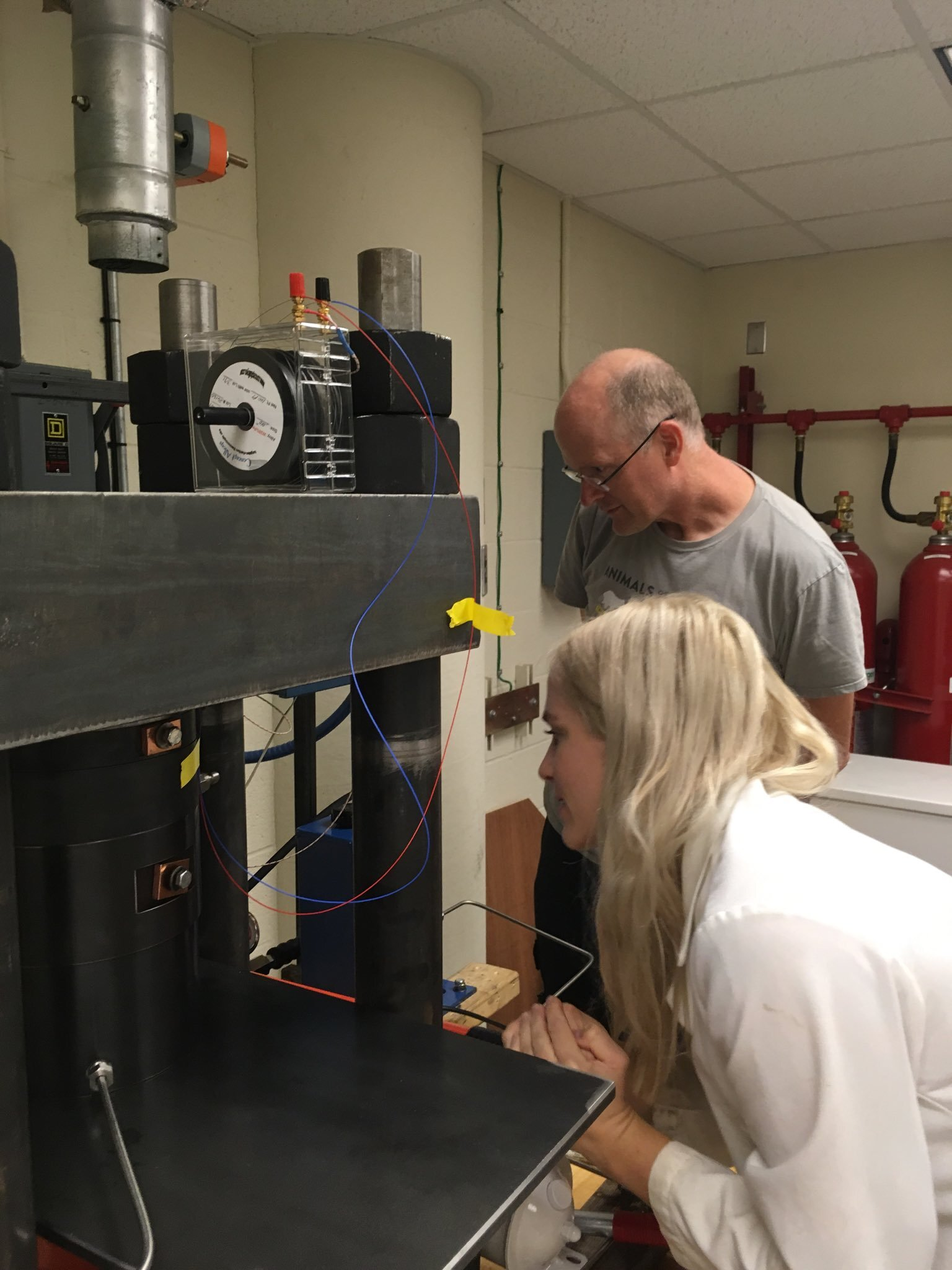Installing a new piston-cylinder at NMNH