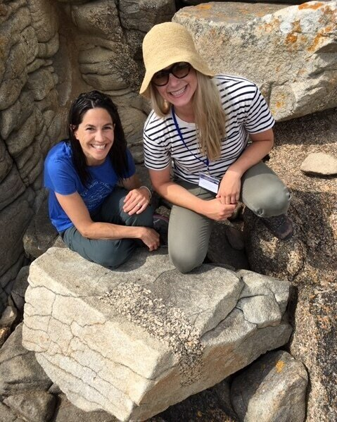 A rare foray into the field in France with post-doc adviser Liz Cottrell