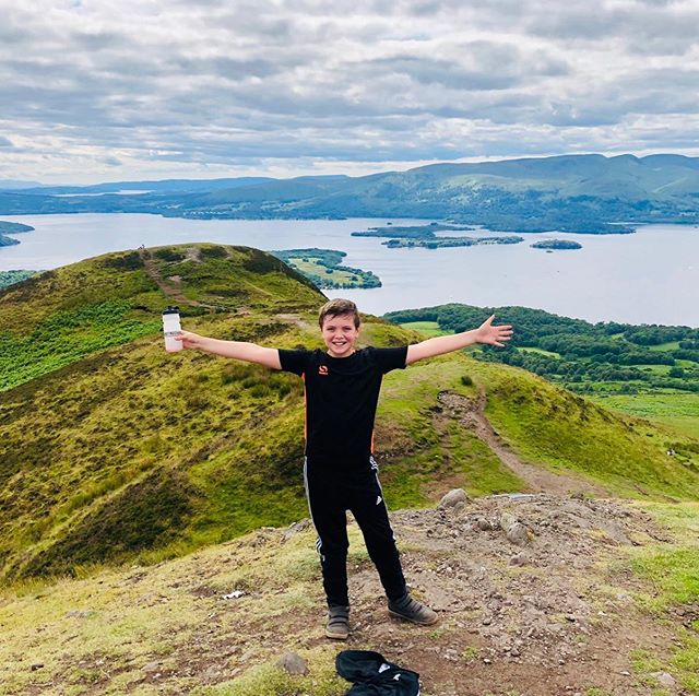 Ambassador Shane repping The SCF at the top of Conic Hill 👊🏽☀️ #getactive #welcometotheteam