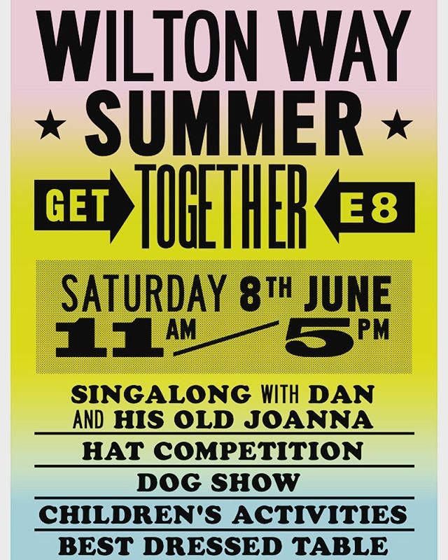 Come and join us for our annual Wilton Way street party tomorrow 11-5pm! Bring your own picnic with best dressed table award and the ever popular dog show and hat competitions! #communitygettogether #Saturday8thJune #wiltonwaystreetparty #dogshowcompetition #stjosephshospice #hatcompetition