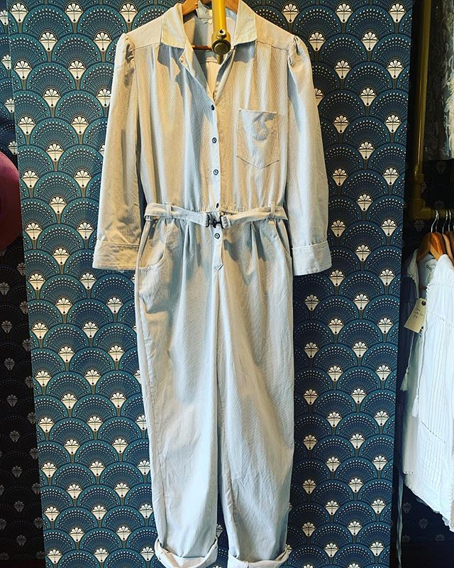 We have lots of great jumpsuits in store this week all colours and all sizes. Stripey ones, lurex ones, workwear ones, 80s realness ones. Pop in and see us while stocks last. #retrouvevintage #sustainablefashion #vintagestyle