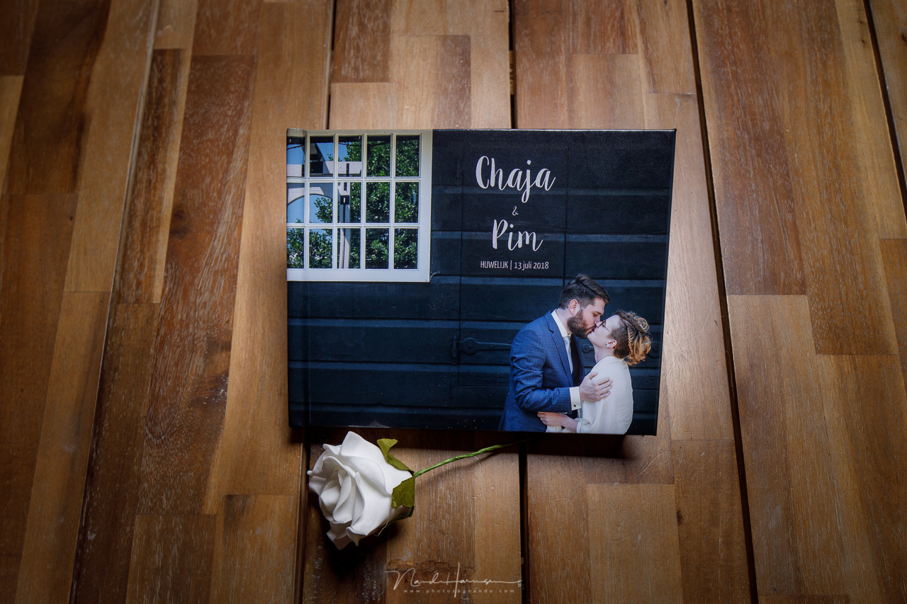 fotoboek van trouwfotograaf nando