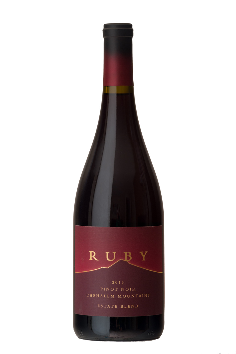 2015 Estate Blend Pinot Noir - Our Estate Blend is entirely comprised of 40-year-old own-rooted Pinot Noir from our estate vineyard. The generous palate shows off the deep concentration of old vines and the 2015 growing season.$45
