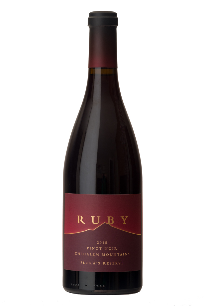 2015 Flora's Reserve Pinot Noir - Made from the 40-year-old own-rooted Wädenswil clone of Pinot Noir from a special block of our estate vineyard, this wine is a special selection of Ruby co-owner Flora Habibi's favorite barrels of the vintage.$100