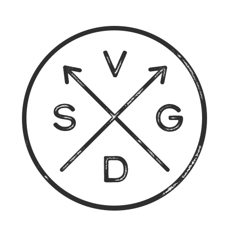 Version D: Arrows, letters read top, left, right, bottom