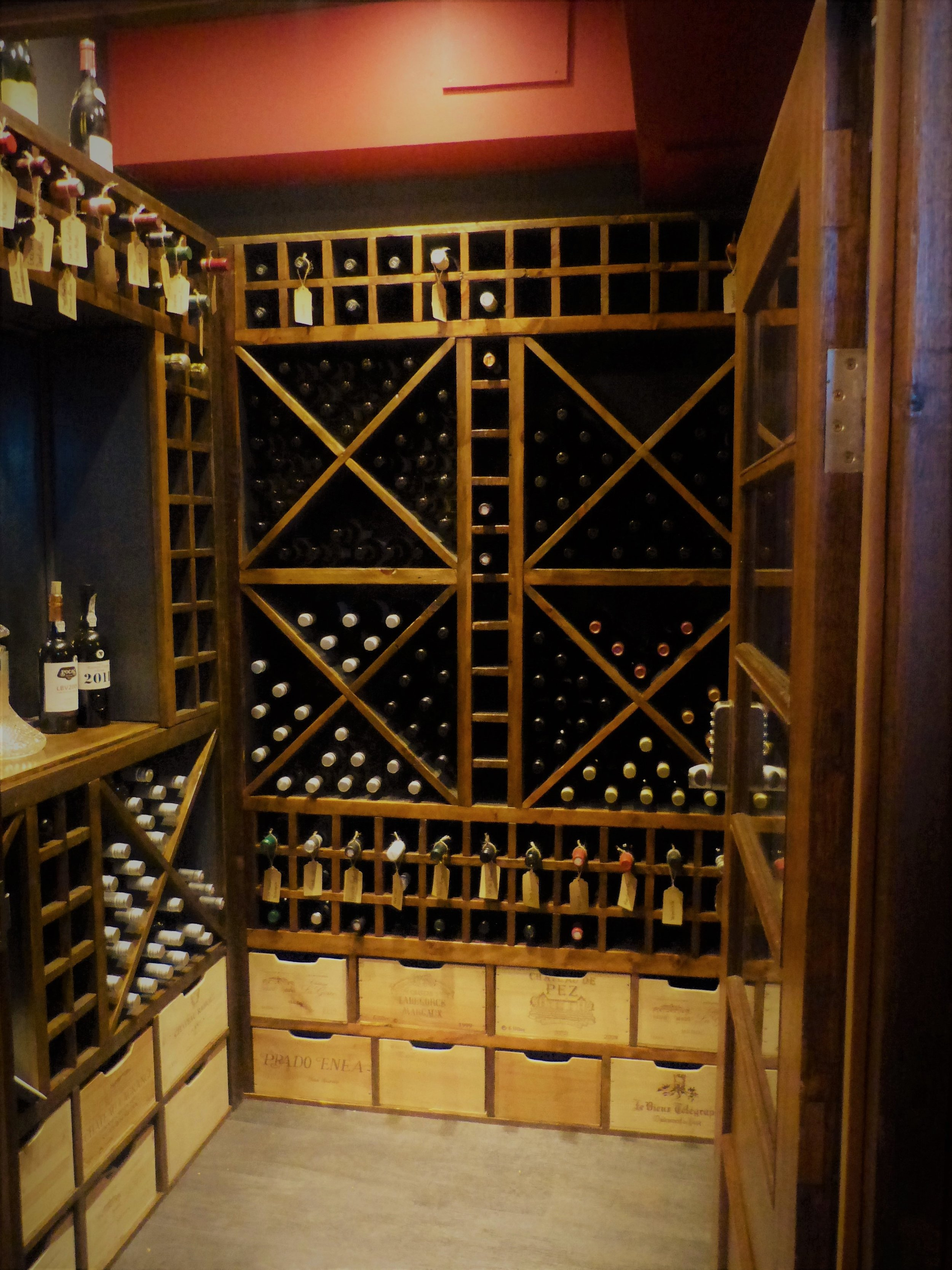 Wine store made from 100% reclaimed timber for the Rights of Man pub in Lewes
