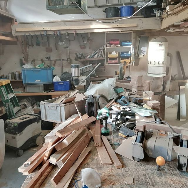 Thought I would have a little clean up in the workshop today and got a bit carried away. If anybody needs a bag of dust I have plenty to spare.