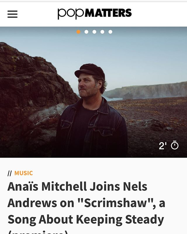 Hey look ! The first single from my newest record dropped today ! Thanks to the good folks @popmatters  for sharing it with the world .. link to music and the scoop in bio ☝️..