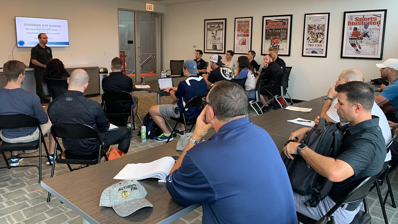 Goodman Elite Training NSCA Coaching Clinic Classroom