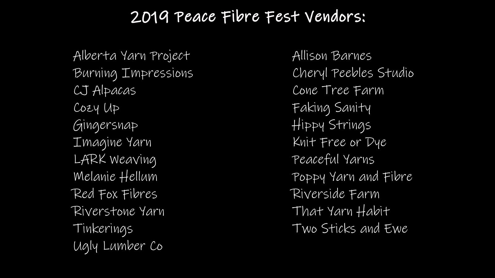 Vendors — Peace Fibre Fest