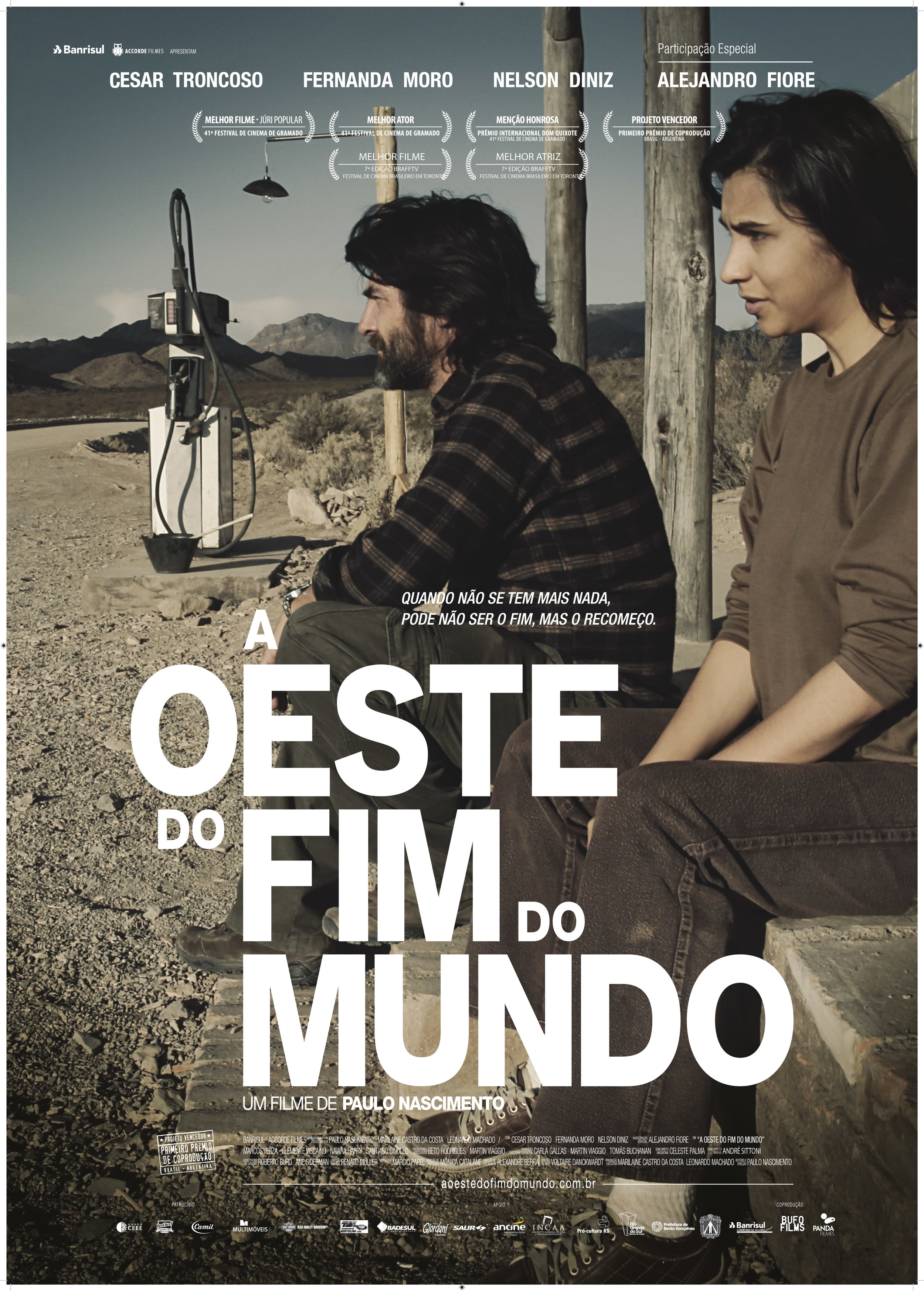 """Pôster do Filme """"A Oeste do Fim do Mundo""""."""