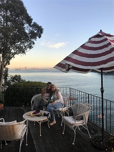 Just over two months after treatment, Denise visited her fourth stepdaughter Molly in San Francisco.