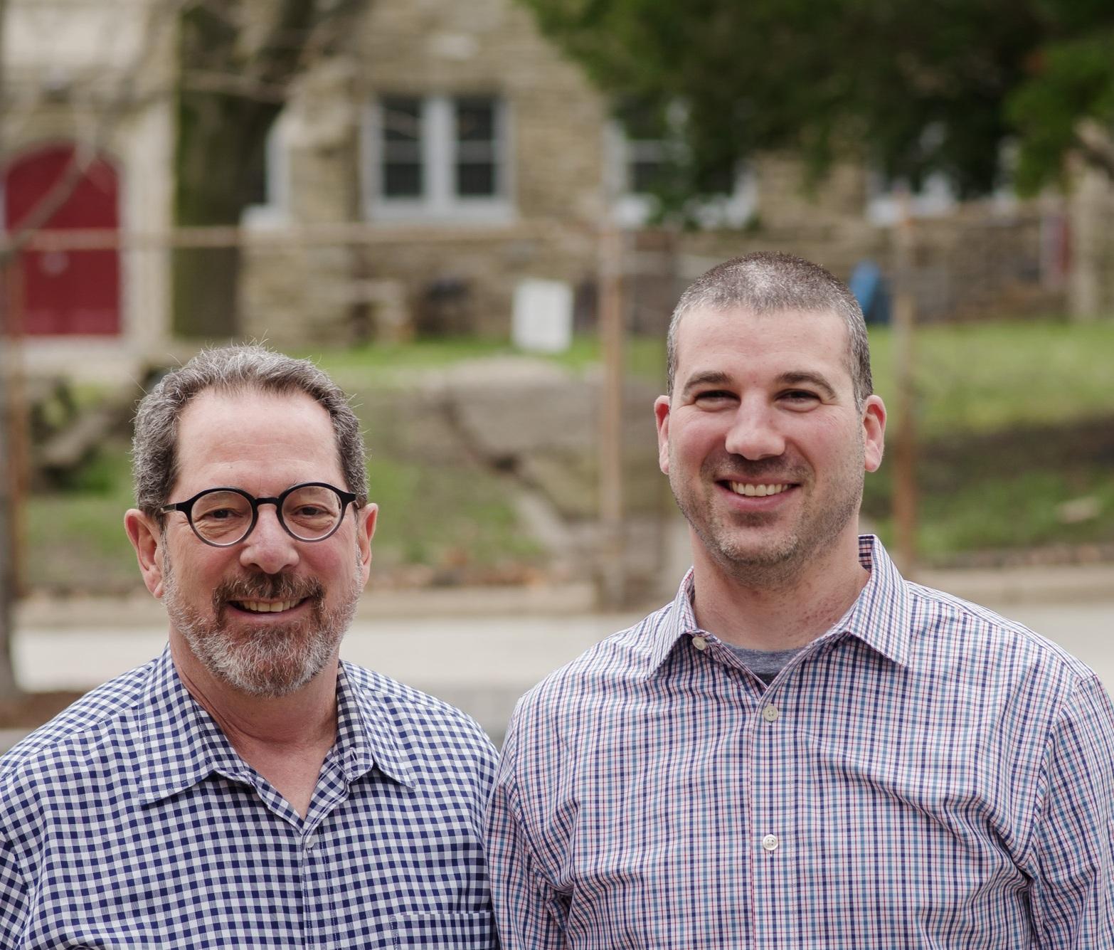 """Founding Partner, Robert """"Bob"""" Elfant with President and Managing Partner, Jared E. Pontz"""