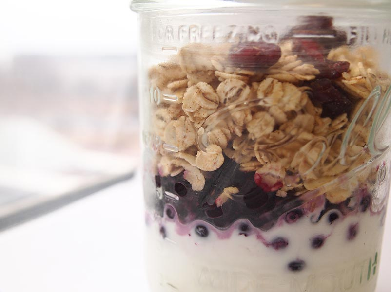 Chef's Tip: - Make parfait before bed and store in fridge overnight. In morning, grab parfait for a quick & delicious breakfast on the go.
