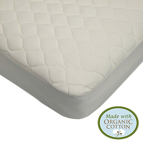 American Baby Company Waterproof Quilted Crib and Toddler Size Fitted Mattress Cover made with Organic Cotton, Natural Color - Vinyl Free - $20.49