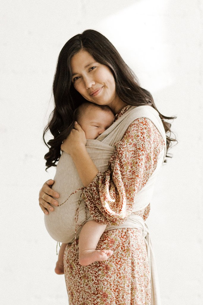 Solly Baby wrap carrier in FLAX - $65.00
