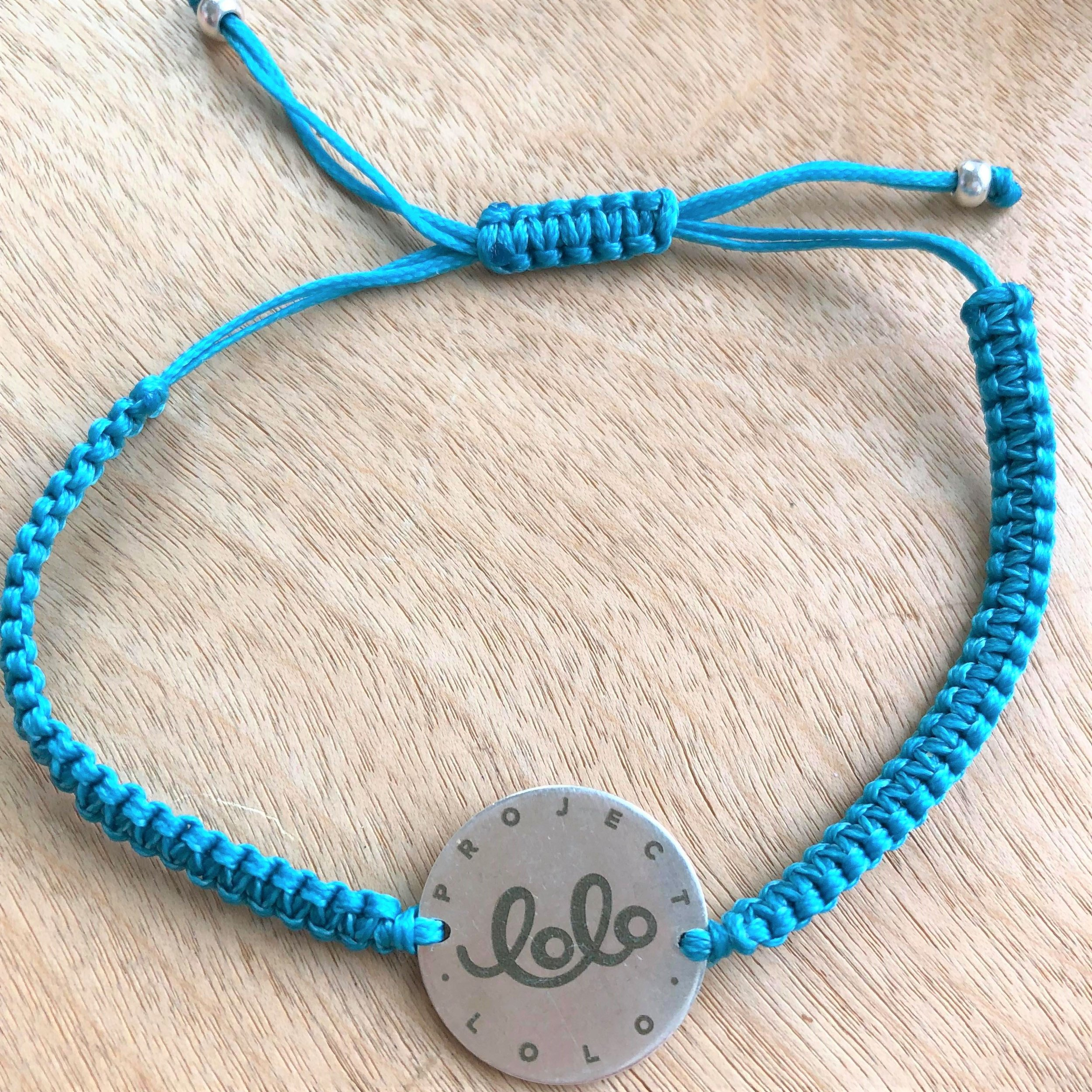LOLO's Charity Partner, Project Lolo's Blue Macrame Bracelet, available now on  Project Lolo's online shop .