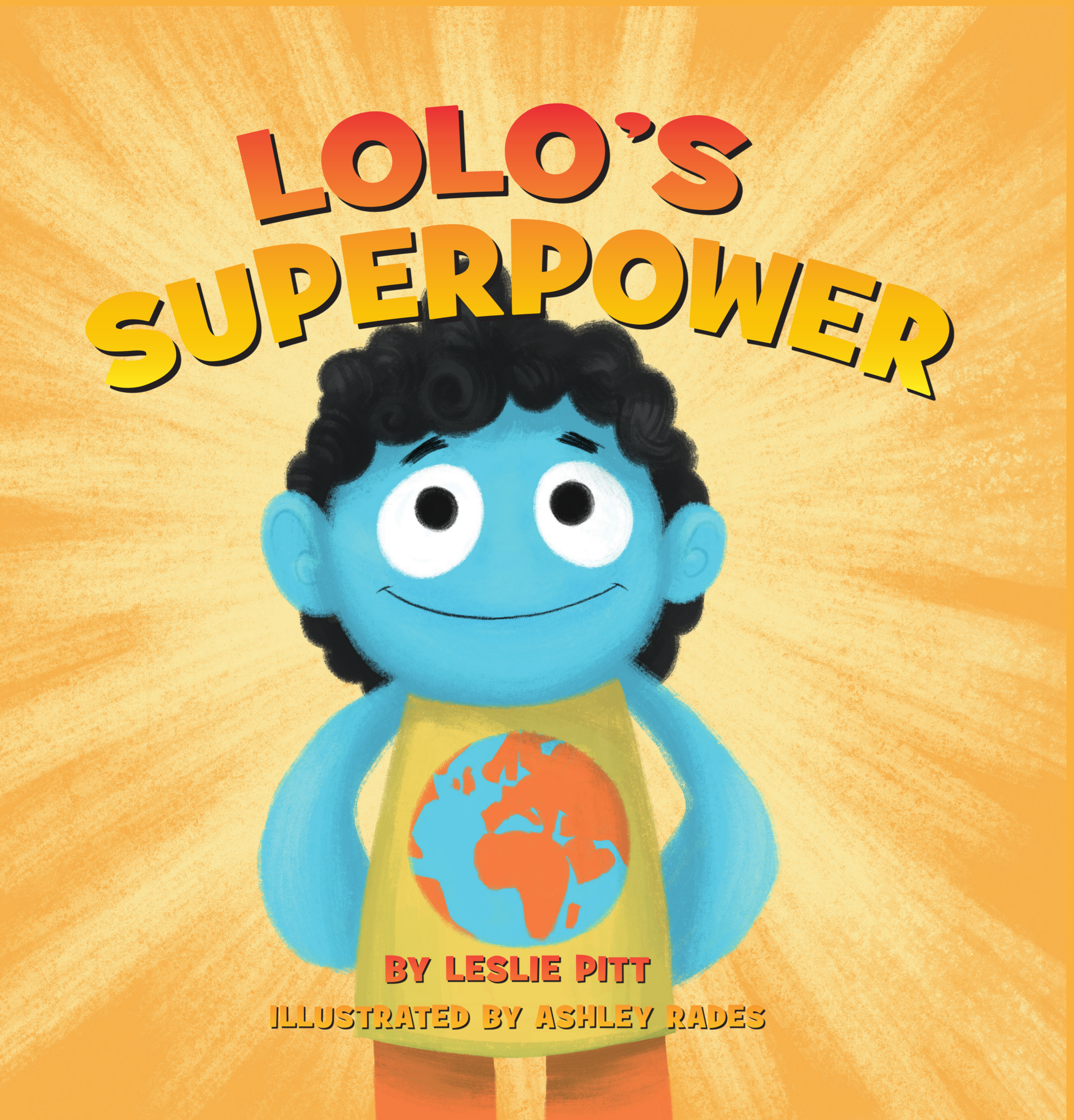 Cover Illustration of  Lolo's Superpower,  a new children's book by Leslie Pitt. Illustration credit: Ashley Rades