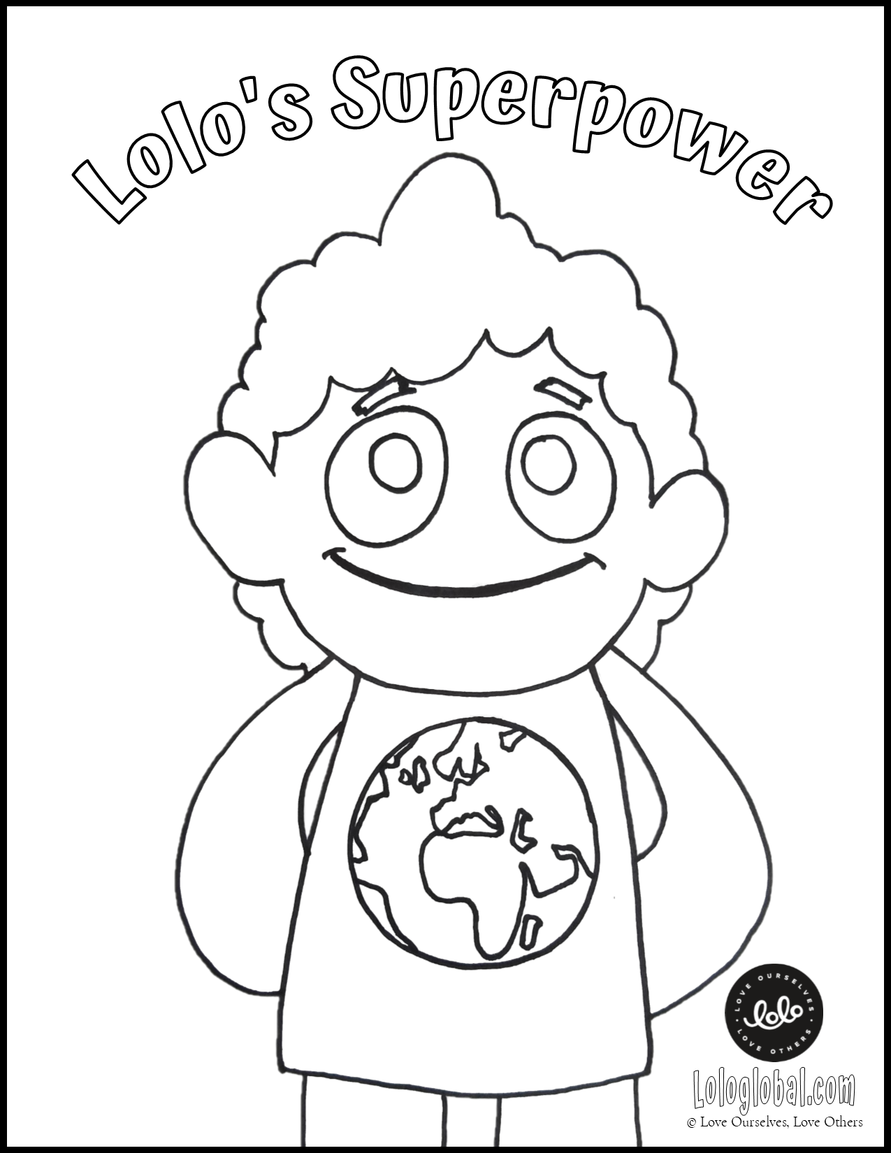 """""""Lolo's Superpower"""" Coloring Page (Preview)"""