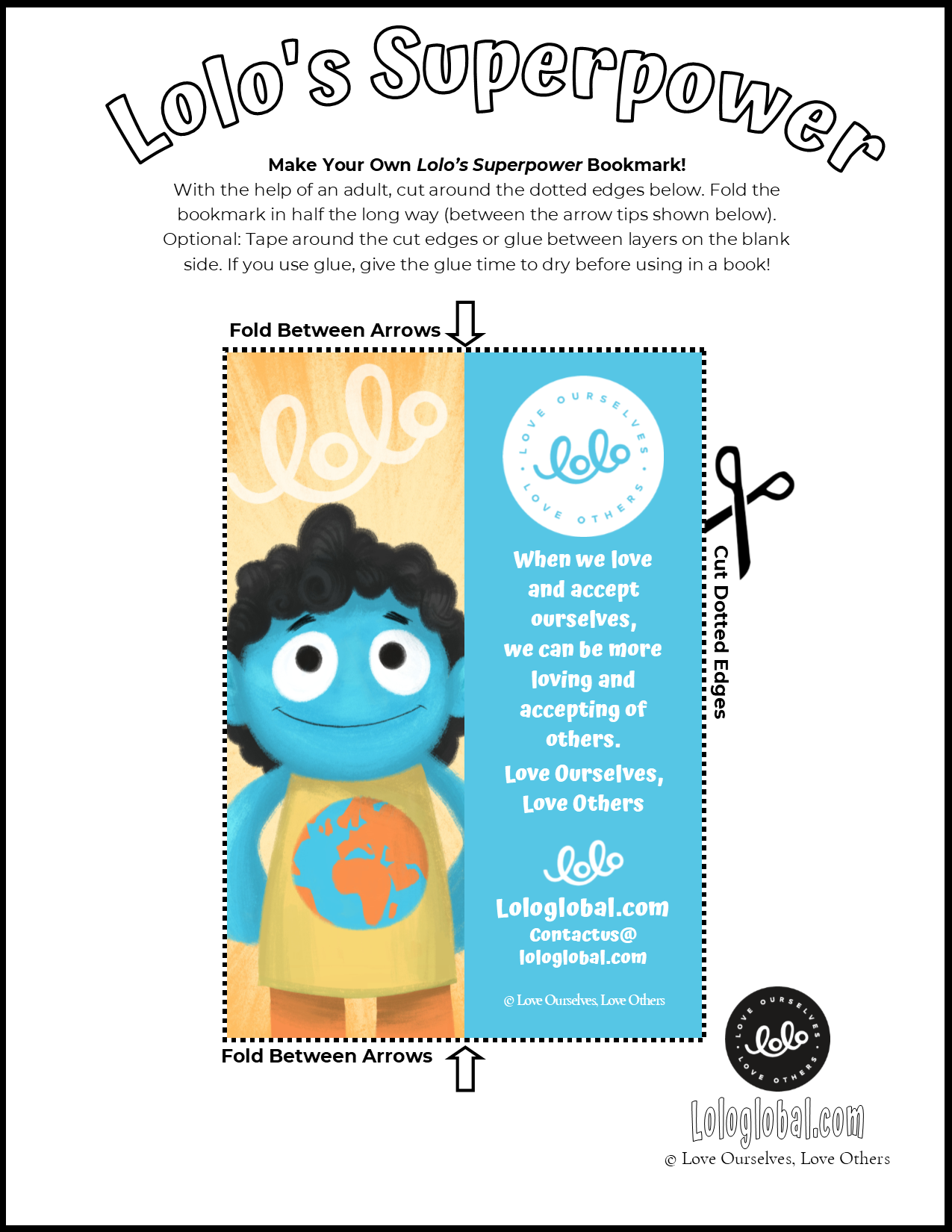 """""""Lolo's Superpower"""" Bookmark (Preview)"""