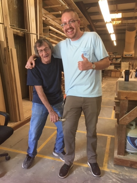 Zack now all grown up and still having fun in the cabinet shop with the guys!!!