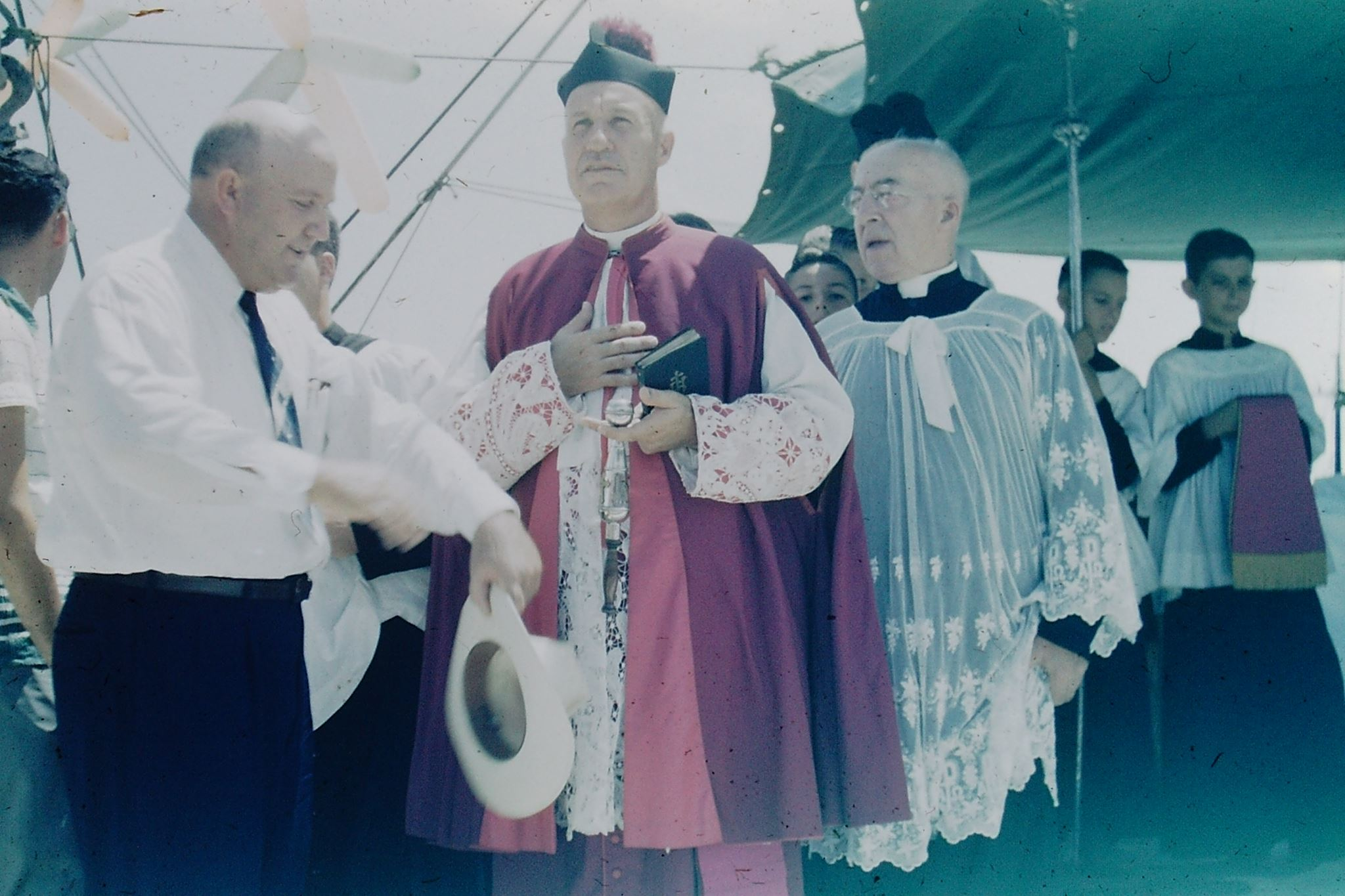 Blessing photo from the 1950s.