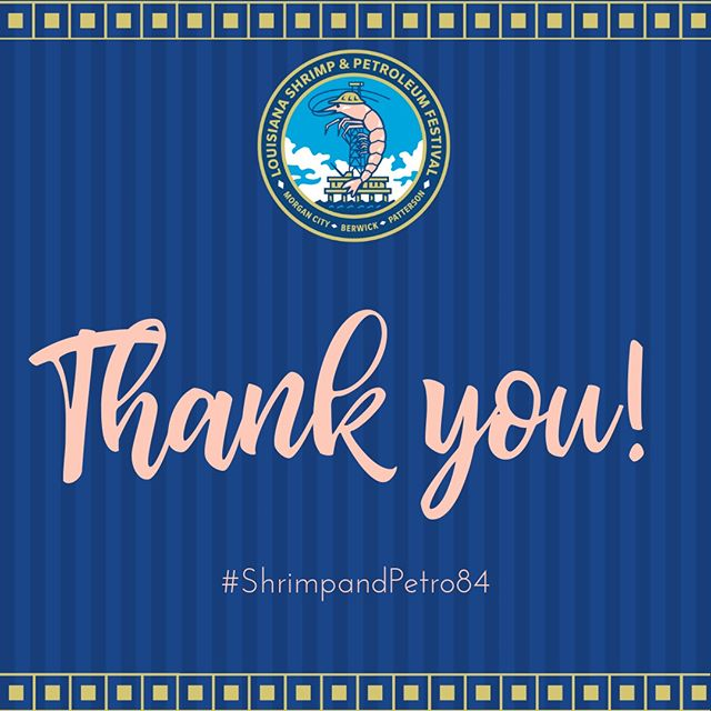 We are extremely grateful for all of our vendors, law enforcement, workers and especially, our festival goers and community! We could not do this without our Board of Directors, volunteers and staff. Until next year... #ShrimpandPetro84 P.S. Save the date: September 3rd through September 7th, 2020!