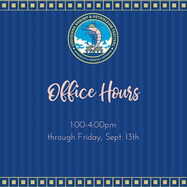 The #FestivalOffice will be open from 1:00-4:00pm through next Friday, September 13th.