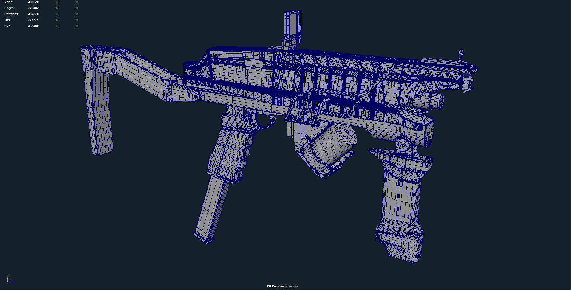 High Poly at 775,771 triangles.