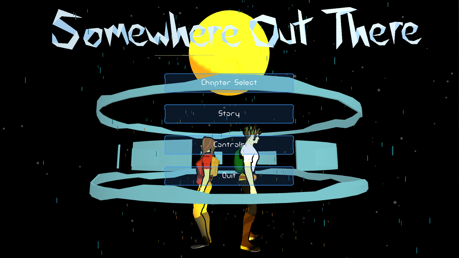 Models for both characters viewed on the menu screen.