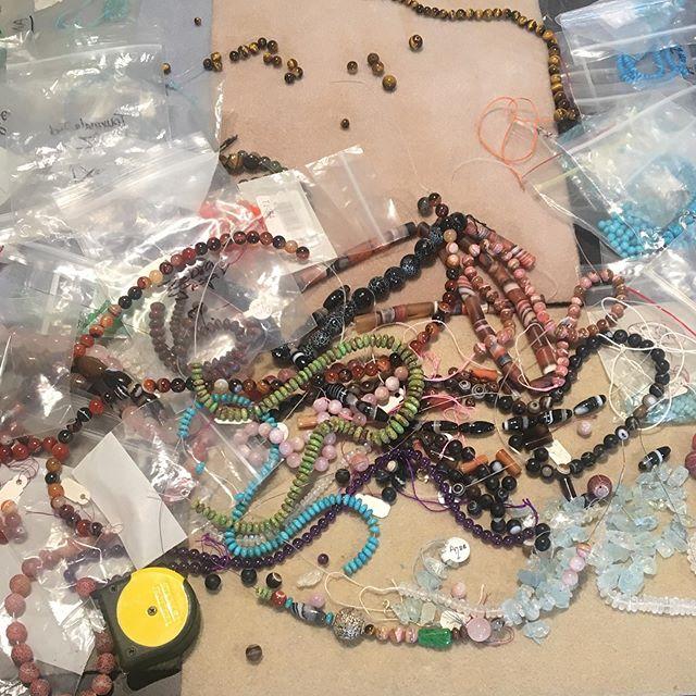 Bead Explosion  #beading #handmadejewelry #goldsmith #studiojeweler