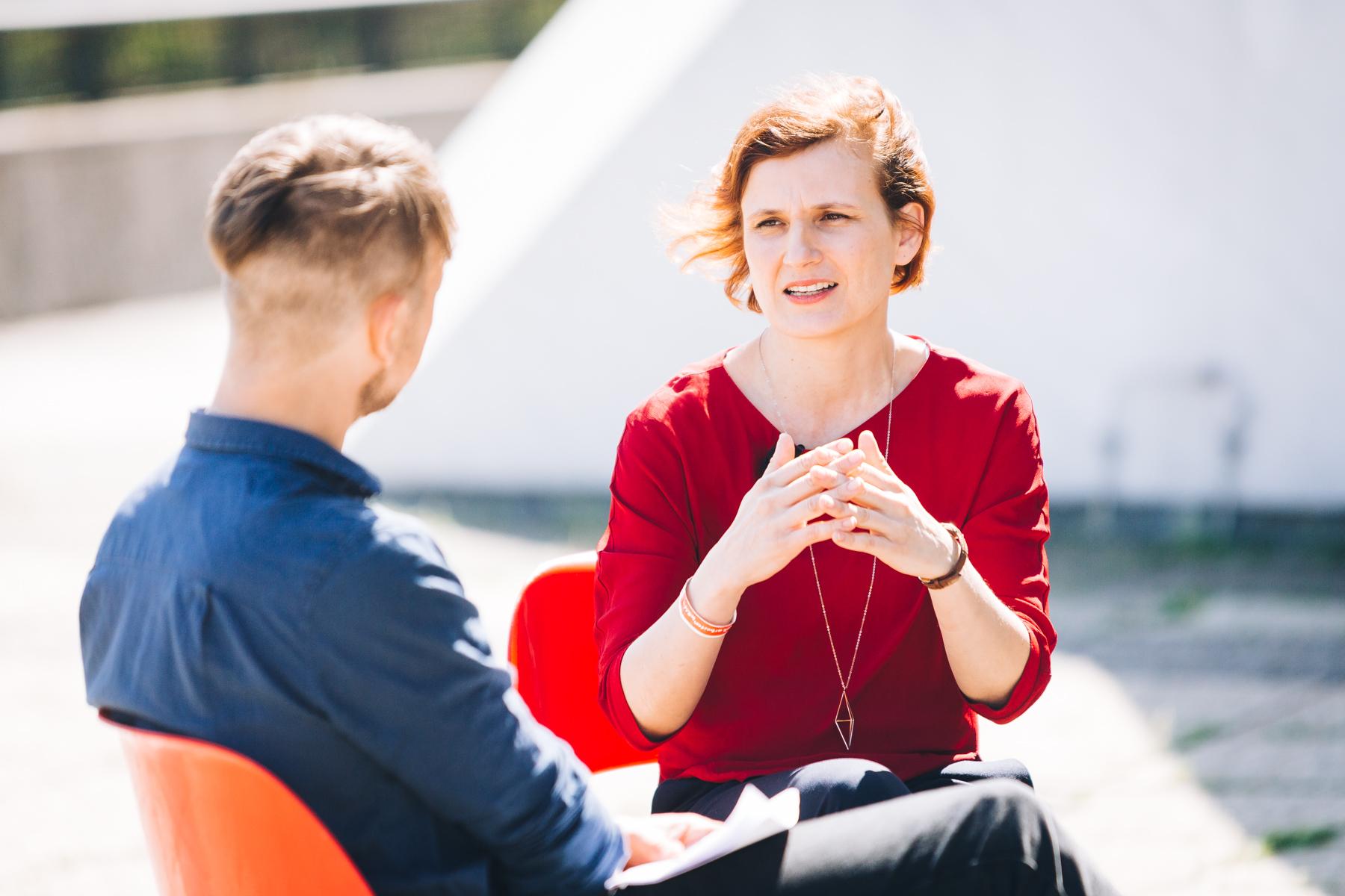 Katja Kipping im Gespräch mit Michael Lohmeyer
