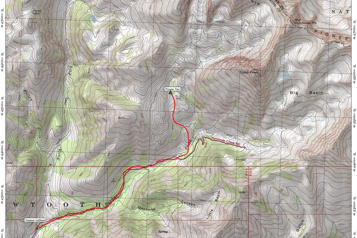 Pioneer Yurt Summer Approach Map.JPG