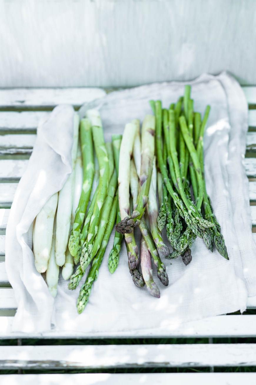 Weisser Spargel, Grüner Spargel, Violetter Spargel und Wildspargel. Spargel lagerst du am besten in einem feuchten Tuch eingewickelt im Kühlschrank, wenn du ihn nicht sofort essen willst - veggielicious | gemüse. fotos. rezepte.