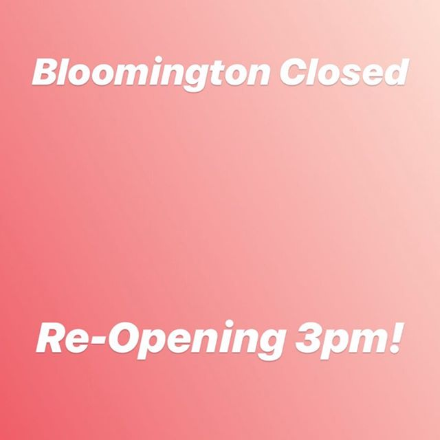 Closing for lunch! Be back at 3pm!