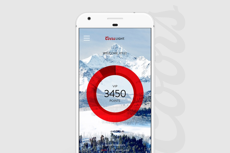 Researching & optimizing usability for mobile loyalty experience - COORS LIGHT | UX Research & Mobile App Design