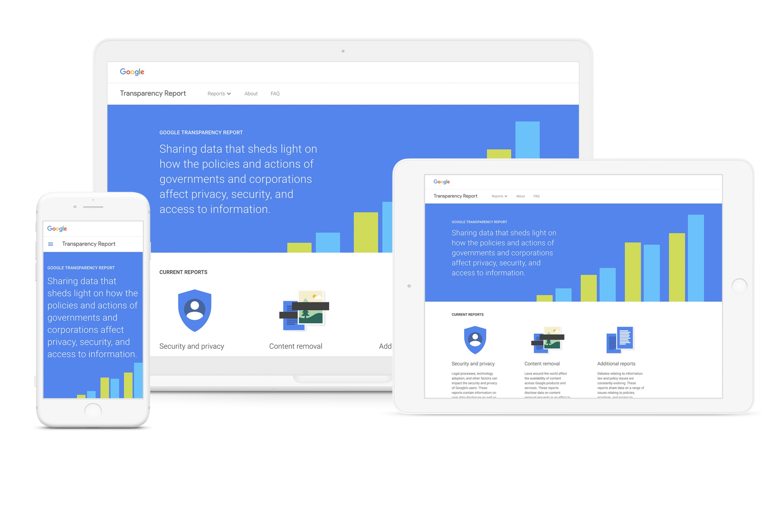 Creating an accessible, data-first design framework for transparency - GOOGLE TRANSPARENCY REPORT | Design Systems & Data Design