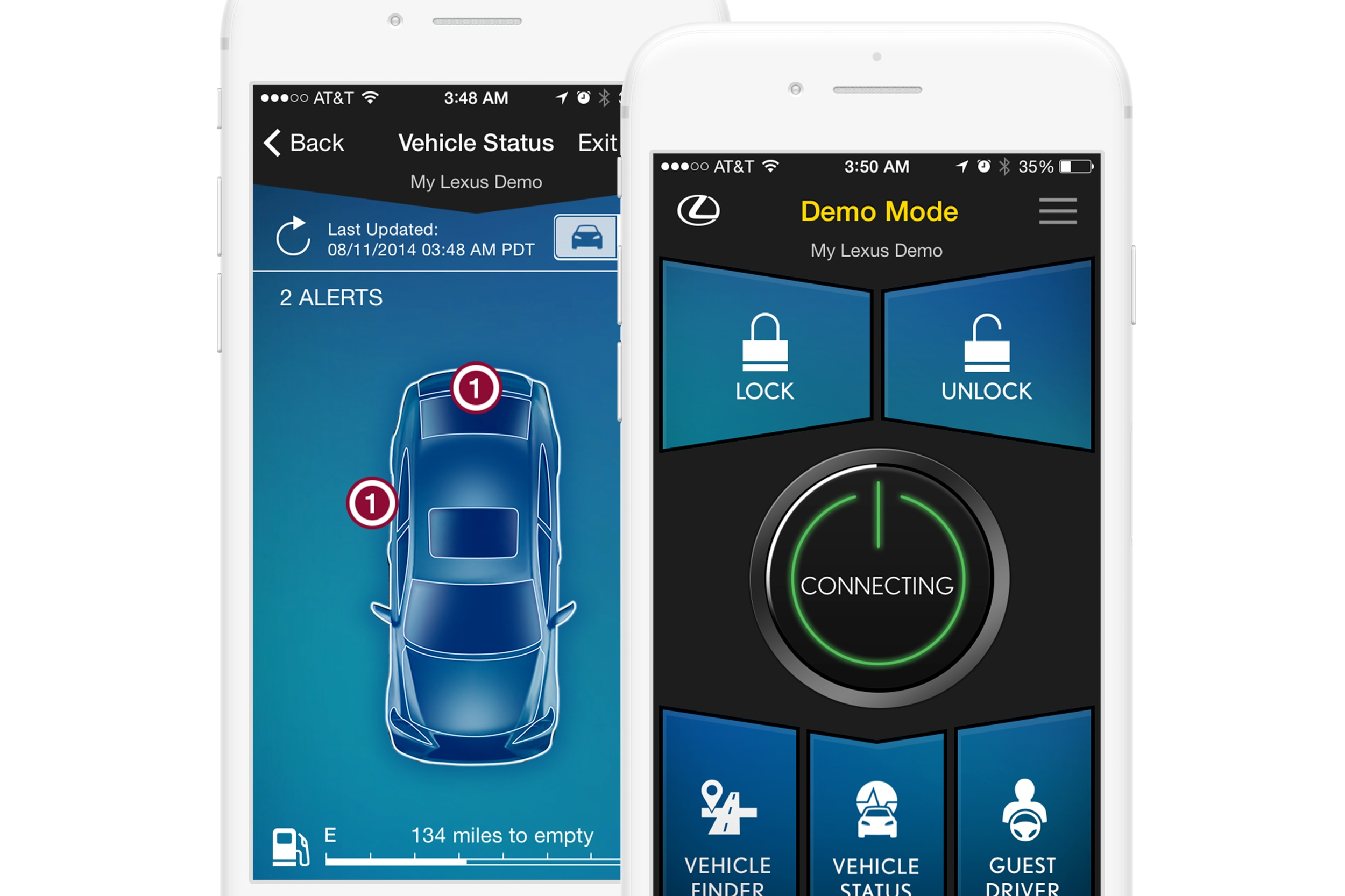 Designing the interface experience for the first Lexus mobile remote - LEXUS | Mobile App Design
