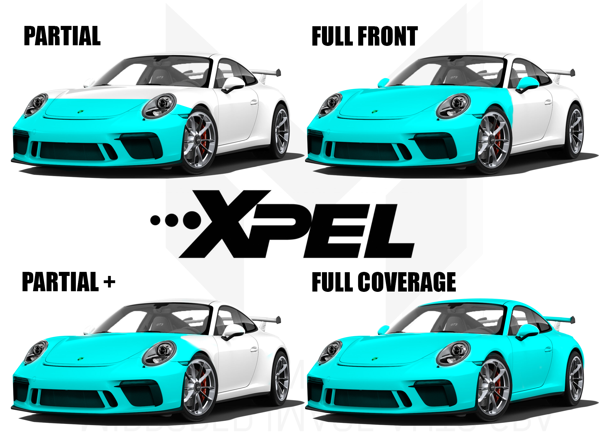 BASIC COVERAGE OPTIONS FOR XPEL PAINT PROTECTION FILM