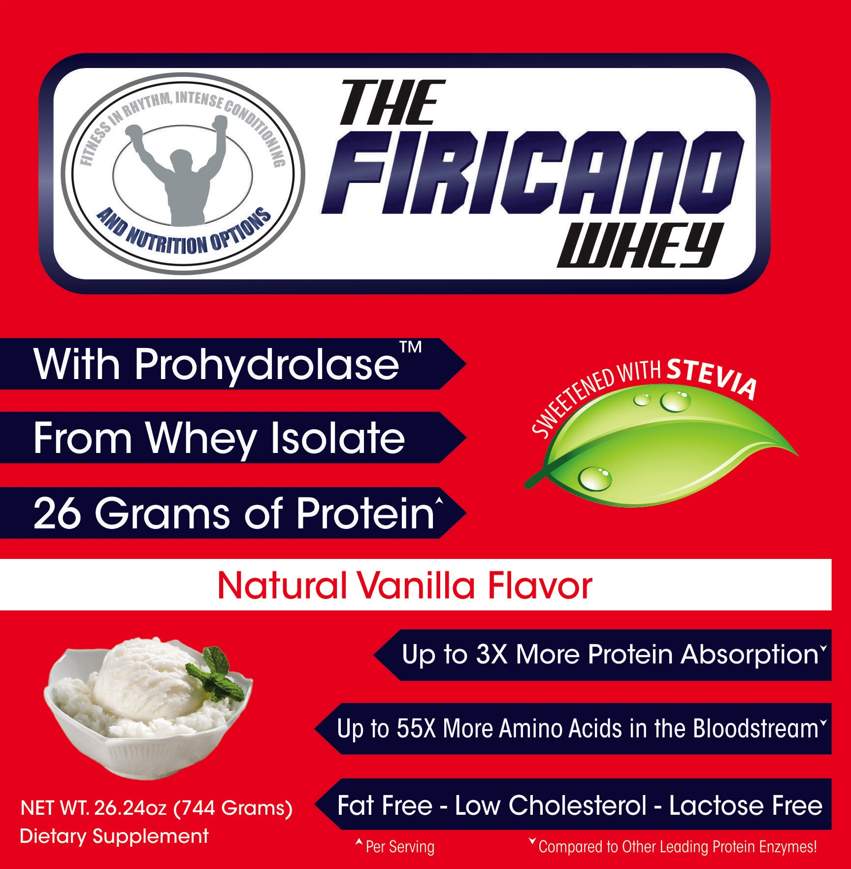 Ingredients - Whey Protein Isolate, Natural Flavors, Xanthan Gum, Prohydrolase, Stevia Leaf Extract, Monk fruit and Sunflower LecithinMACROS: 120 Calories 26g Protein 2g Carbohydrate 0g Fat