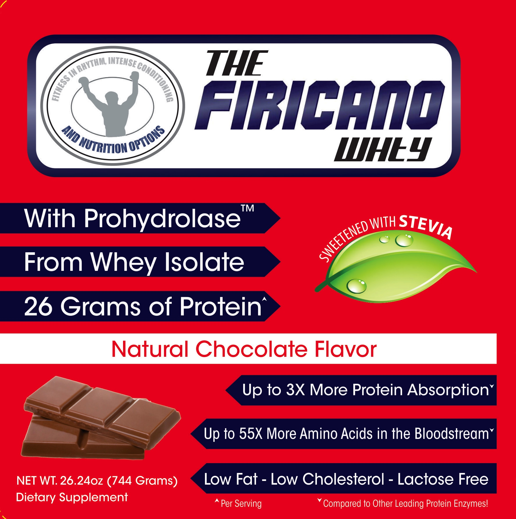 Ingredients - Whey Protein isolate, Cocoa Powder, Natural Flavors, Xanthan Gum, Prohydrolase, Monk Fruit, Salt, Stevia Leaf Extract and Sunflower LecithinMacros: 120 Calories 26g Protein 3g Carbohydrate 0.5g Fat
